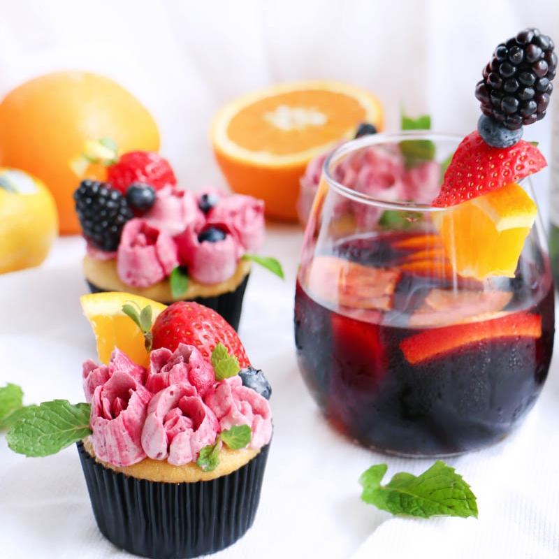 Cupcakes de Sangria