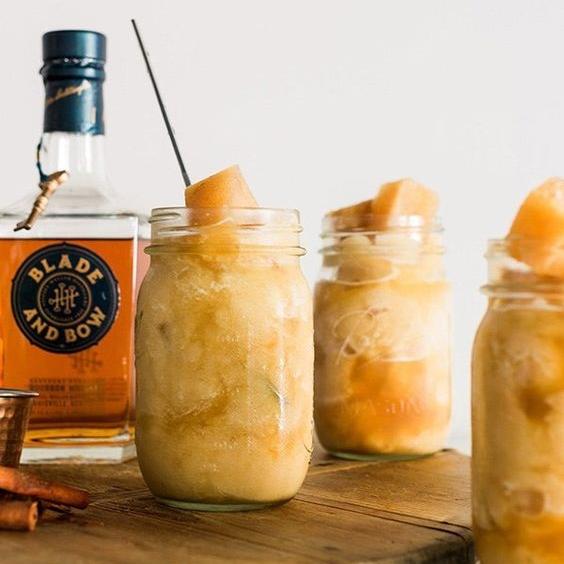 Boozy Bourbon Apple Cider Slushie