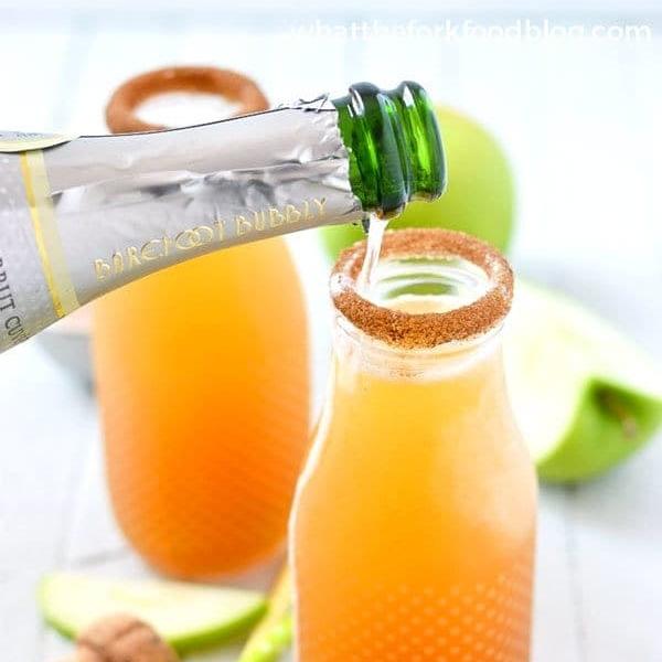 2-Ingredient Apple Cider Mimosa