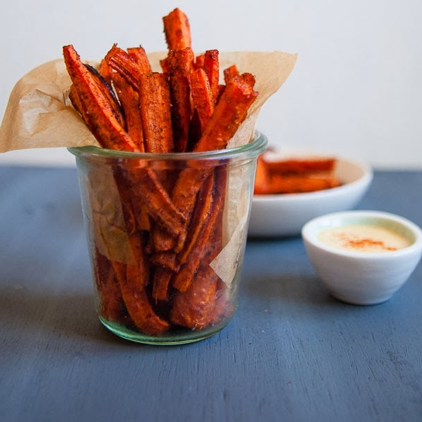 Carrot Fries with Chipotle Mayo