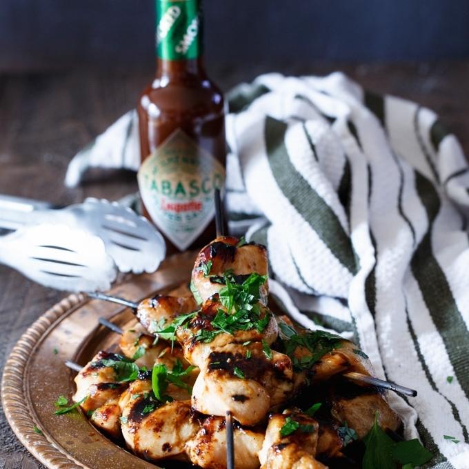 Spicy Chipotle Honey Chicken Kabobs