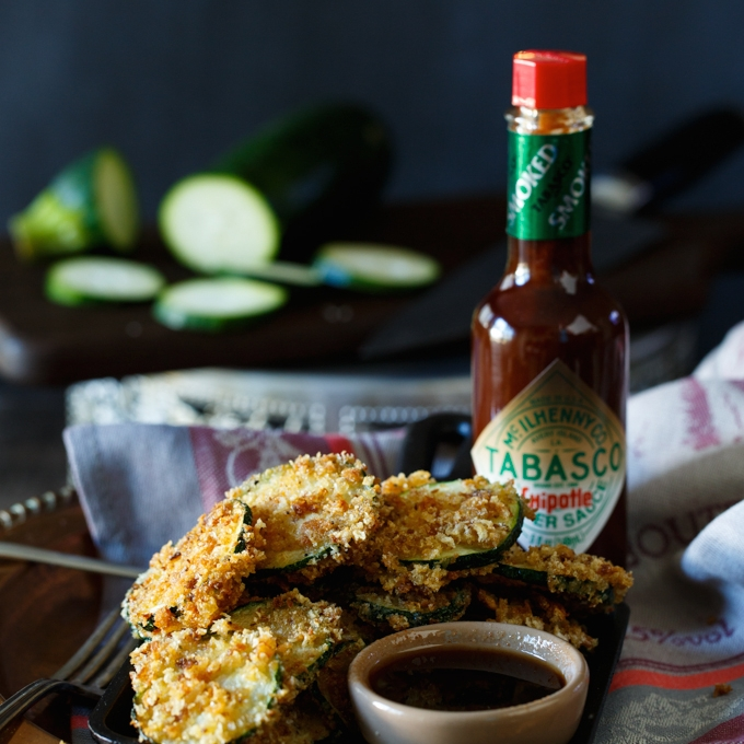 Fried Zucchini w. Chipotle Dipping Sauce
