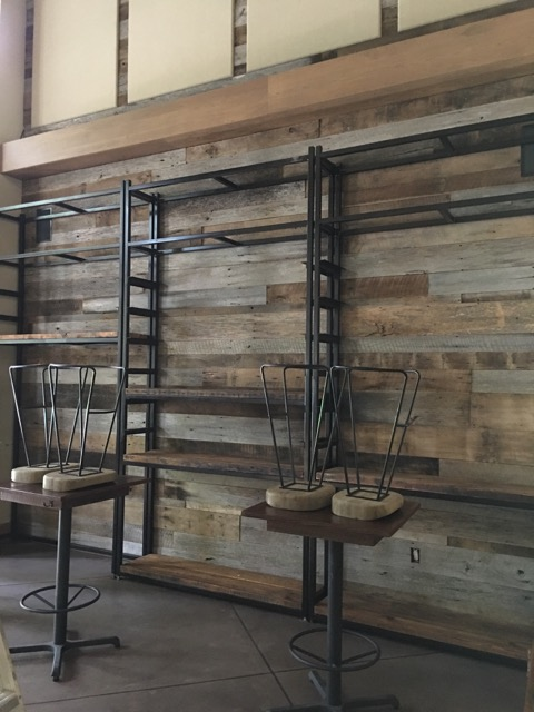 Reclaimed Wall & Metal Shelving