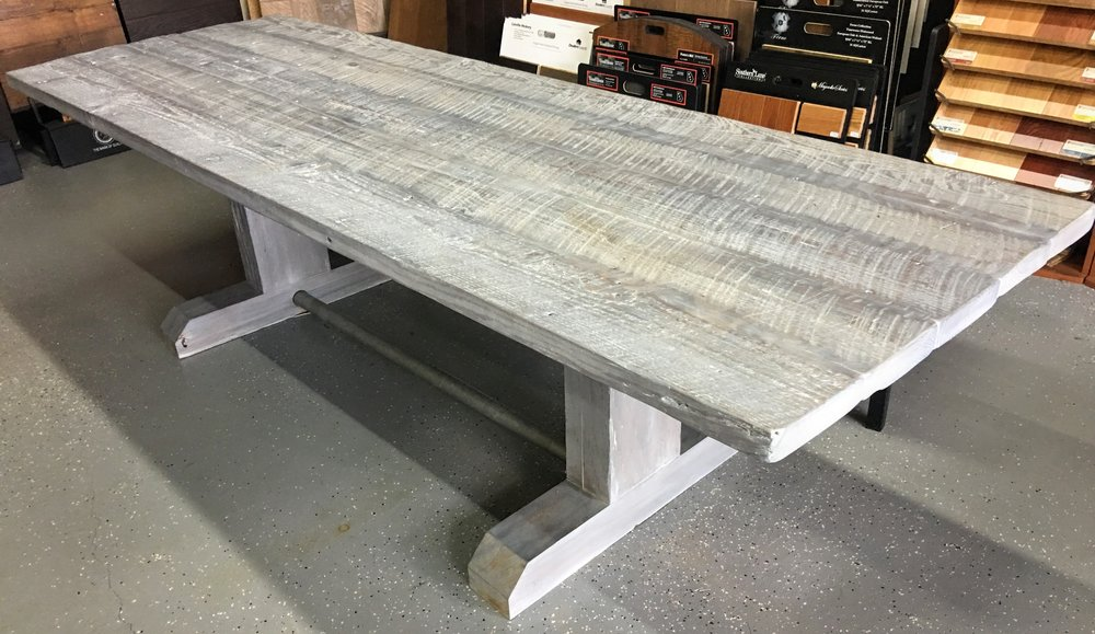 Gray Reclaimed Pine Farm Table