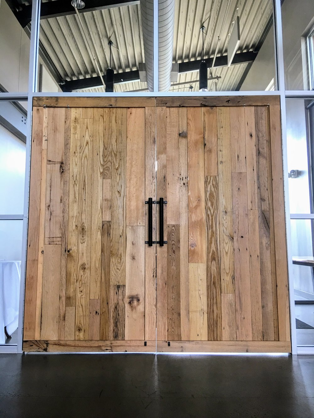 u.s.national whitewater center custom barn doors & tables