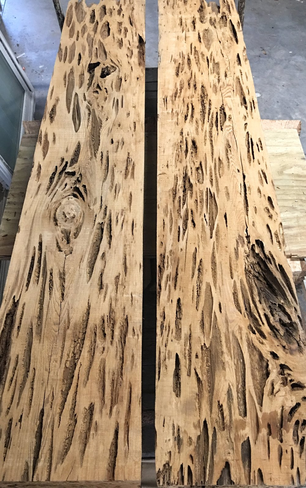 Rare Pecky Cypress Beams