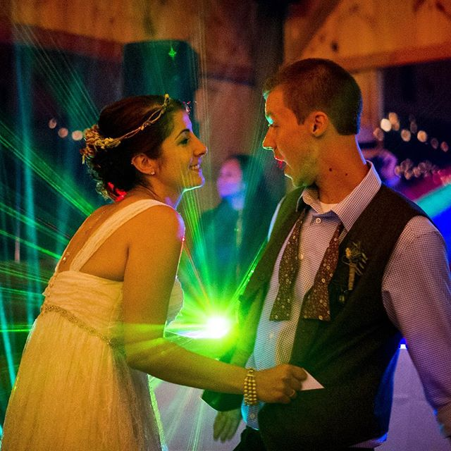 Last call on the dance floor. #vermontweddingphotographer #documentaryweddingphotography #weddingphotojournalism #brideandgroom #weddings #weddingphotography #light #laser