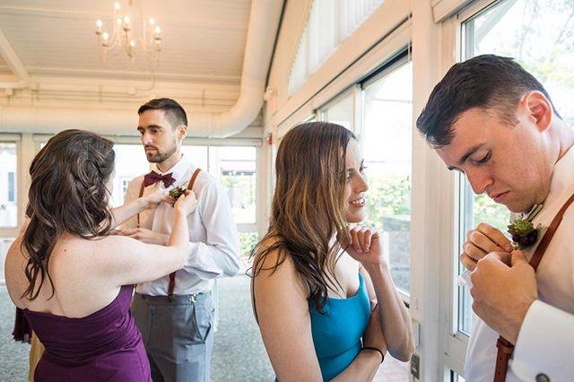 Finishing touches before the ceremony. #weddingphotographer #documentaryweddingphotographer #documentaryweddingphotography #wedding #weddingphotography #weddingphotojournalism #weddingphotojournalist #nikon #weddingflowers #weddingday #weddingparty
