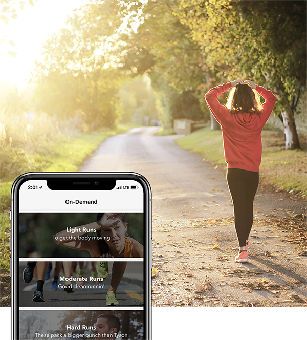 ...Or try an On-Demand run - Can't make a live run? We've got you covered with a variety of on-demand runs that track your stats and allow you to compete with anyone who has ever done that run in the past!