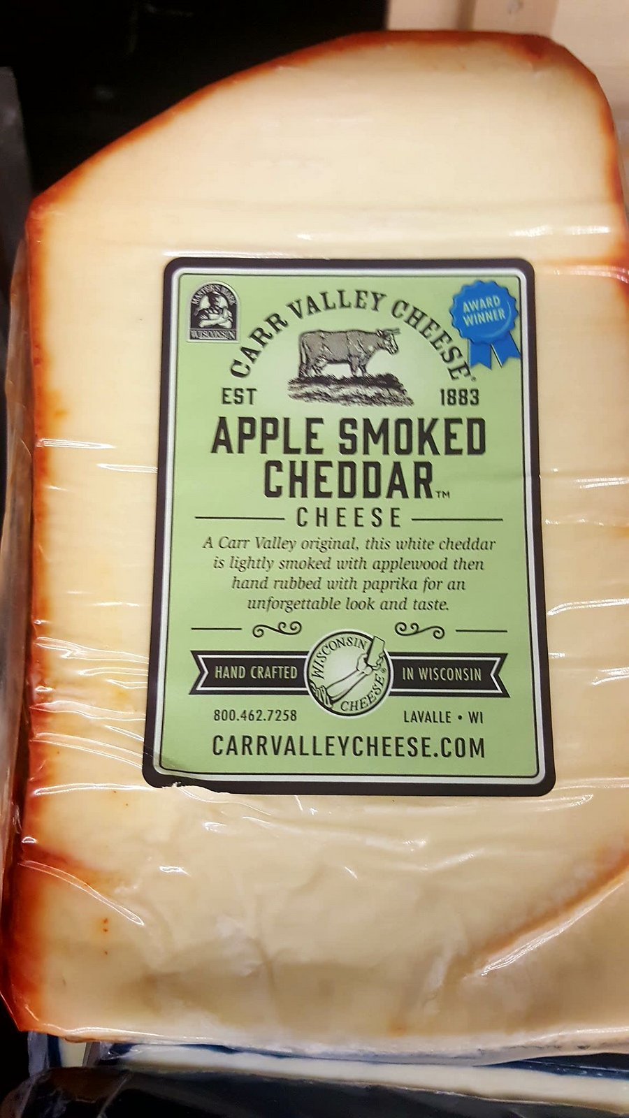 Oct 17 Carr Valley Apple Smoked Cheddar cheese.jpg