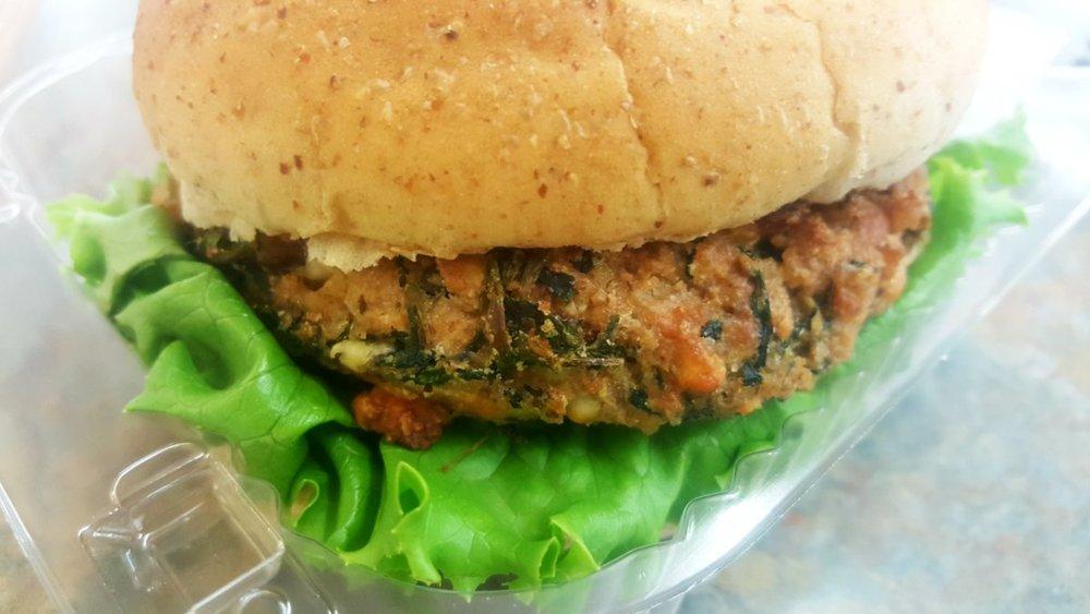 Spinach Parmesan Burger