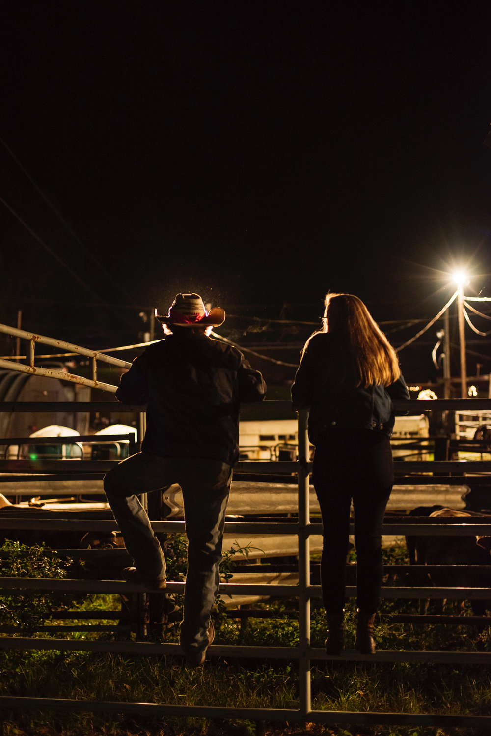 Kelsey reporting a story on bullriding in North Carolina. Photo by  Jack Sorokin .