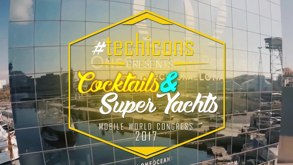 #TECHICONS 2017 Cocktails & Super Yachts- Our first edition of an event that would help shape the TECHICONS.Exclusive networking event held during Mobile World Congress sponsored by  charterdart.   Co-organized by media partner Scott Mackin, CEO of  Barcinno , Ben Nachoom, CEO of  OneCoWork and Svetlana Velikanova, Founder of  Harbour.Space University .
