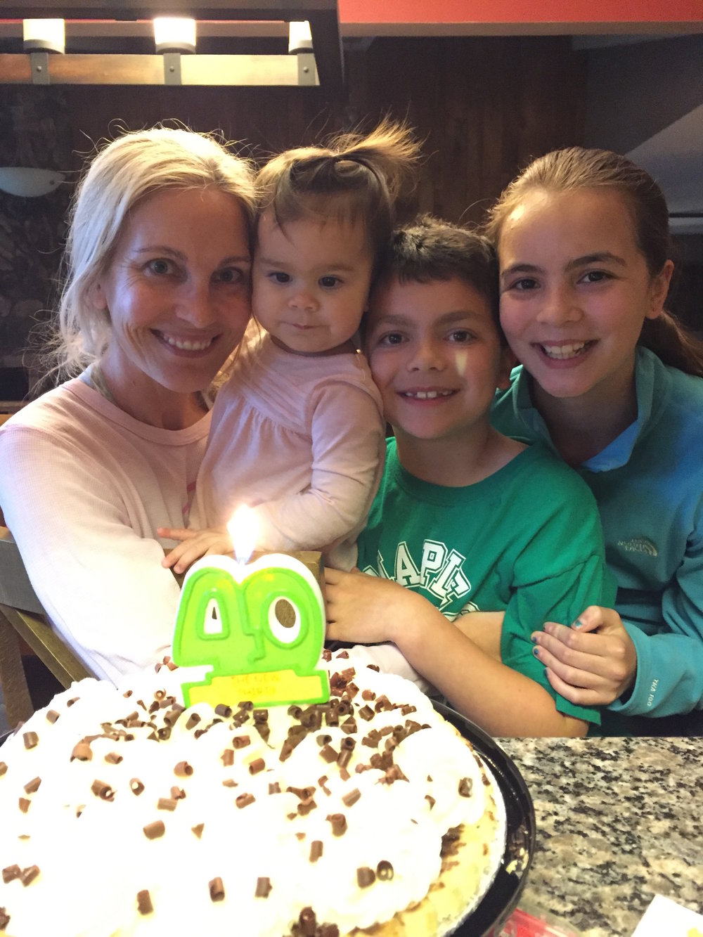 Sarah and her 3 kids