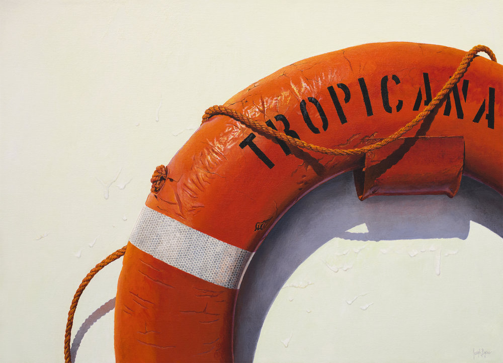 "Tropicana, Acrylic on Linen, 26"" x 36"""