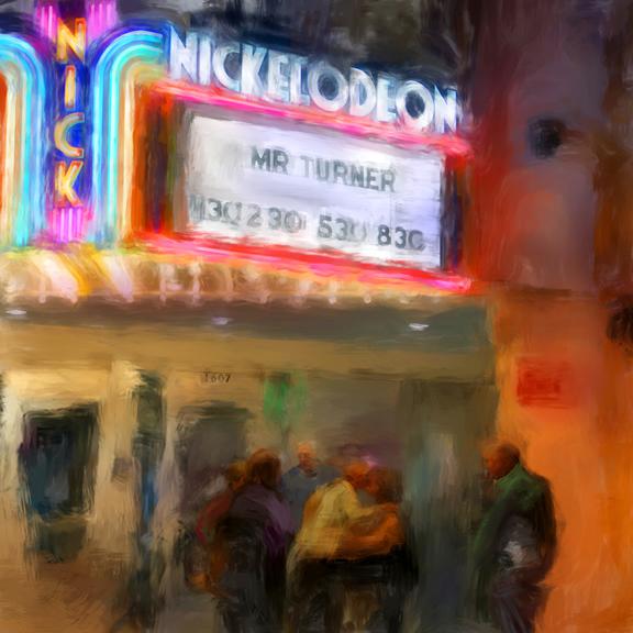 """Mr. Turner, Digital Mixed Media, 20"""" x 20"""""""