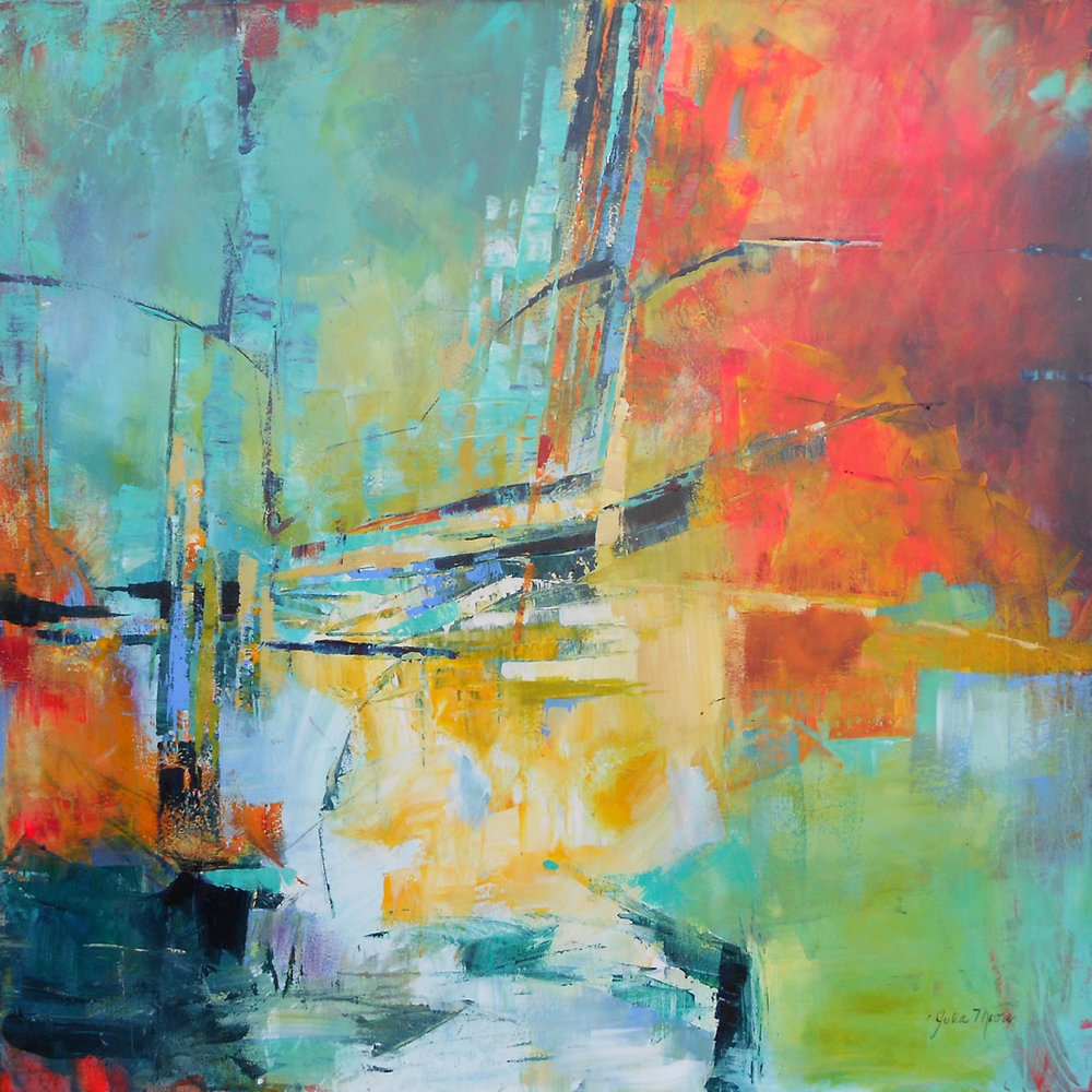 "Aloft, Acrylic on Canvas, 48"" x 48"""