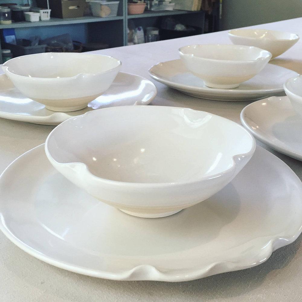 "Tableware, Stoneware, 10"" x 10"" x 4"""