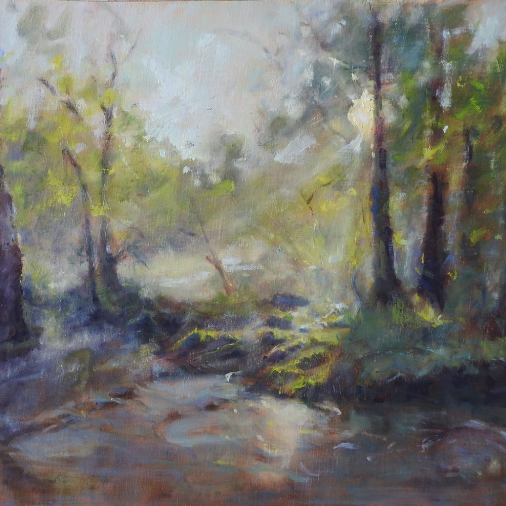"View from the Edisto Treehouse, Oil on Linen, 18"" x 24"""