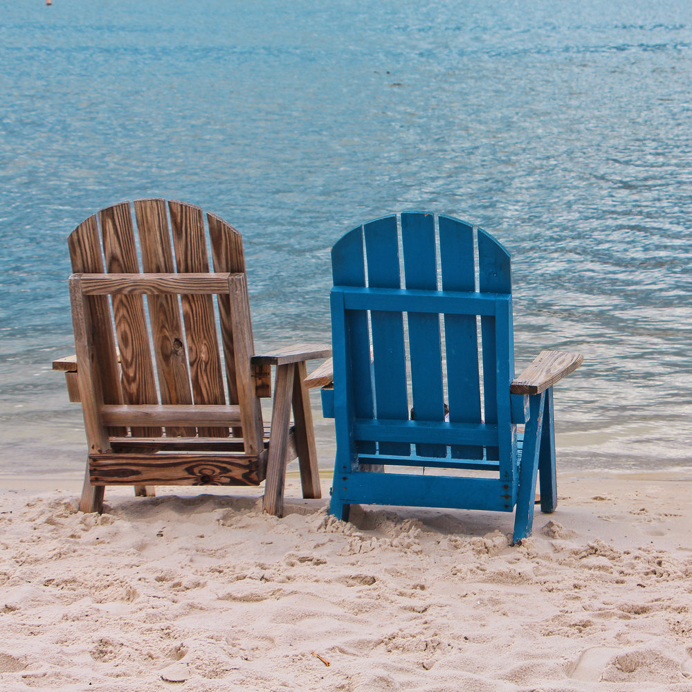 "Beach Chair Buddies, Fine Art Photography on Canvas, 24"" x 36"""