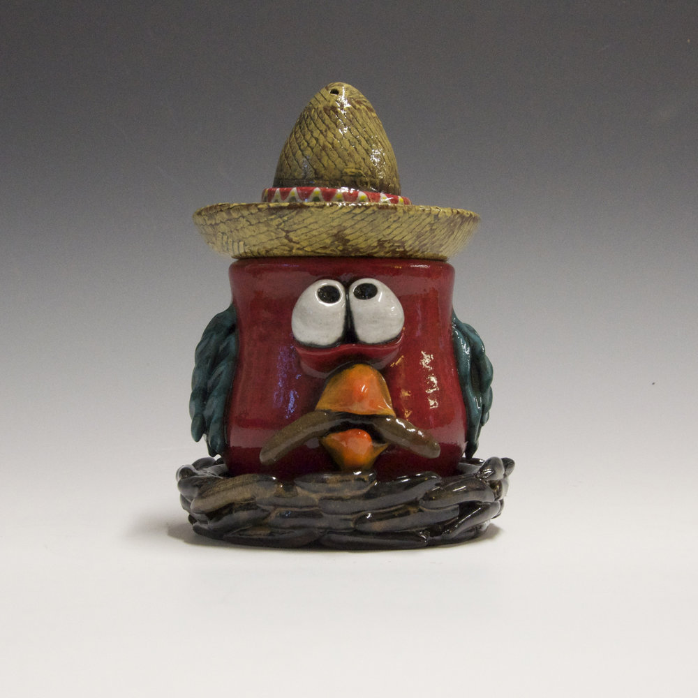 "The Early Bird Gets The Worm, Clay, 4"" x 3"""