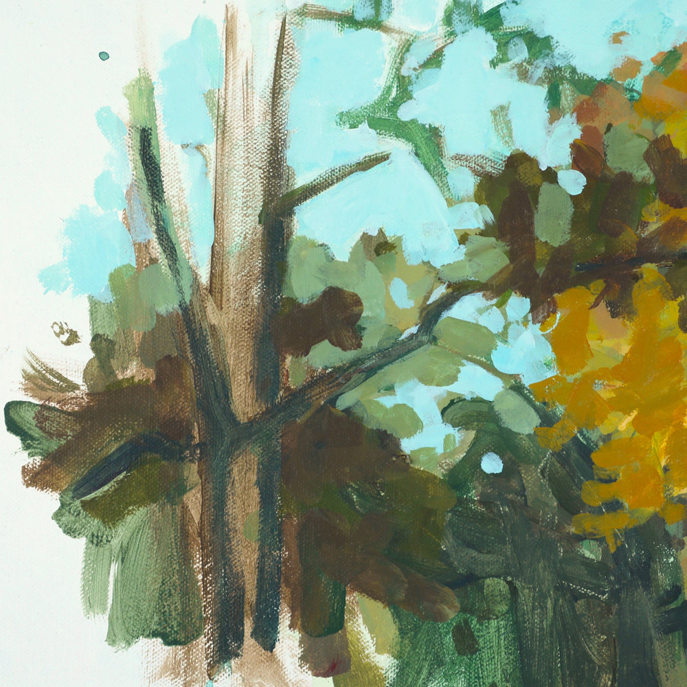 "Fall Trees,Acrylic on Canvas, 20"" x 20"""