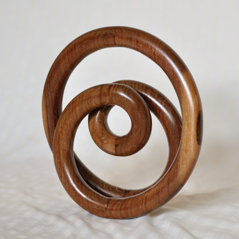 "Walnut Loops, Wood, 12"" x 12"" x 4"""