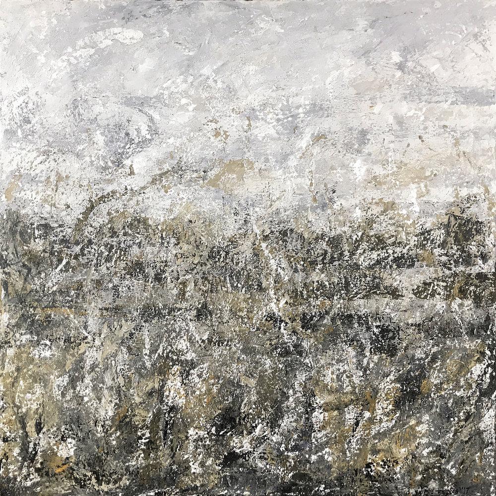 "Clandestine, Acrylic on Canvas, 36"" x 36"""