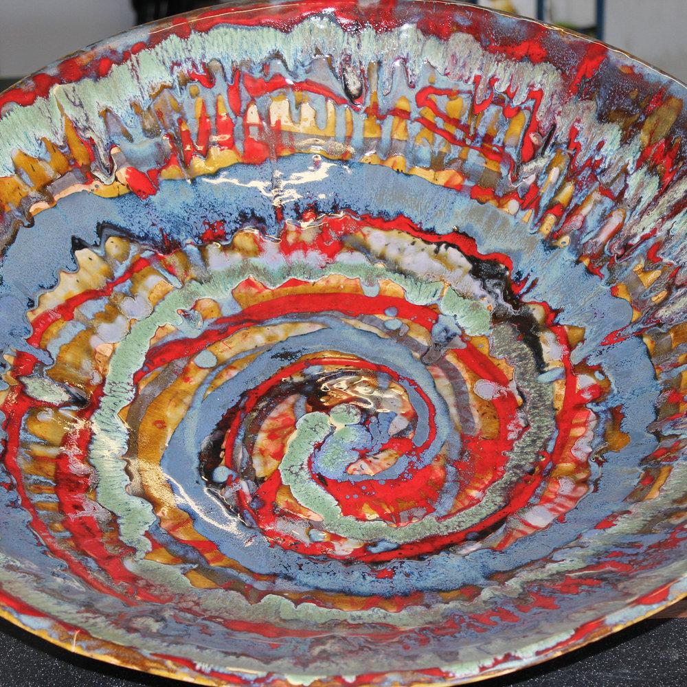 "Spiral, Ceramic, 27"" x 6"""