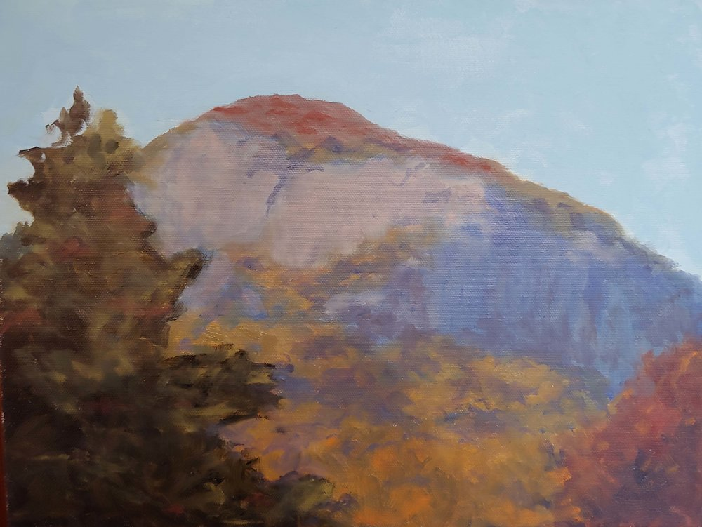 "Table Rock SC, Oil on Canvas, 16"" x 12"""