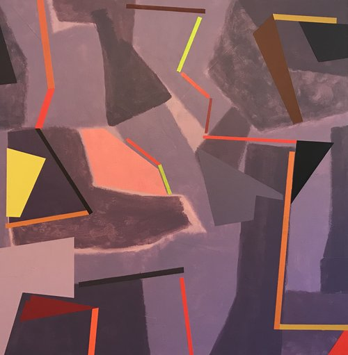 "Buffa's, Acrylic on Canvas, 34"" x 34"""