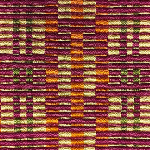 "Untitled (Rep Weave), Perle Cotton, 9"" x 8.5"""