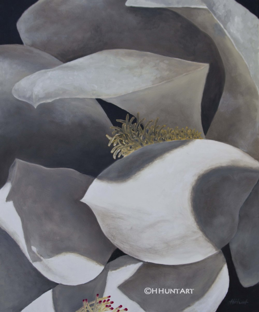 "The Magnolia, Oil on Canvas, 36"" x 48"""