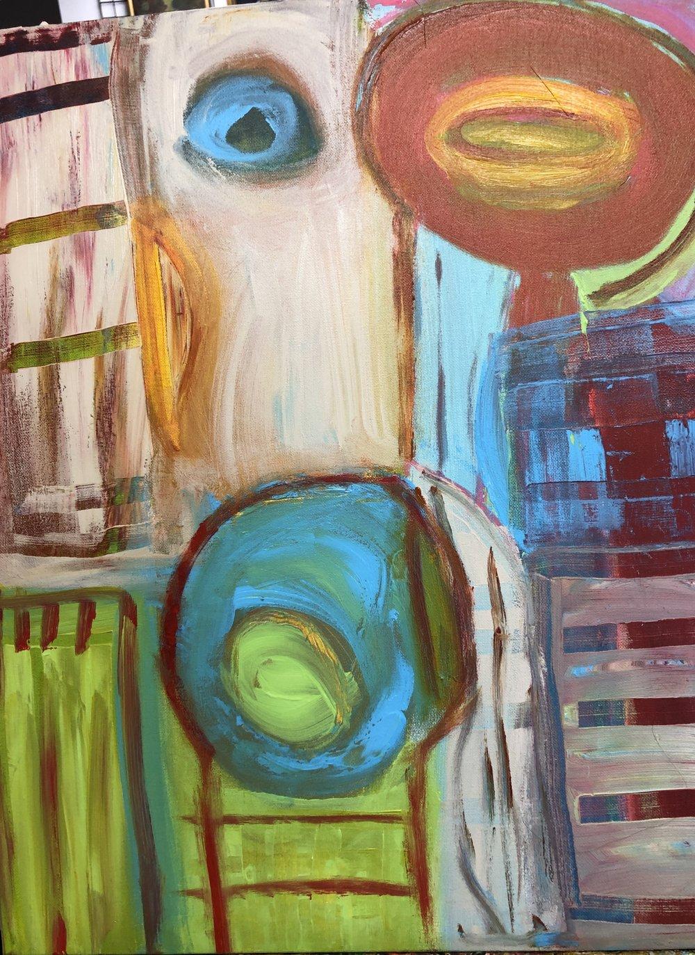 "Art of Color, Acrylic, 18"" x 24"""