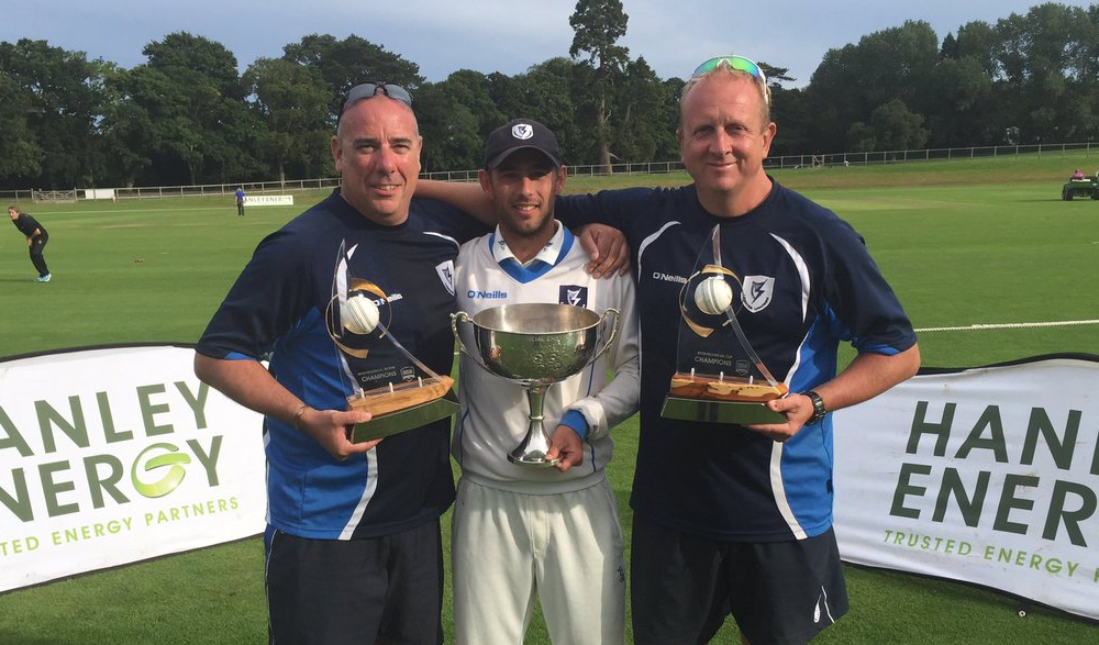 Showing off all 3 Senior Inter-Provincial Cups for Leinster in 2016 w/Mark Jones & John Anderson (Image: @LCU_Lightning)