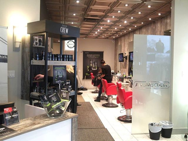 Why should men's self-care routine end when they leave their barber? #ThrowbackThursday to when @dove was in barbershops across the #RougeMens network to show men how easy and effective self-care can be with Dove Men+Care products at home!