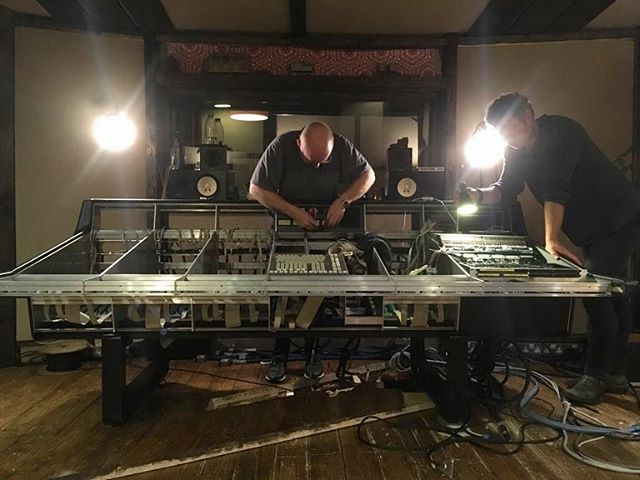 SSL G Series console recommision in full flow with the Scottish wizard @scotchmcneil at new studio location in the mountains🔊🔊🔊🔊🔊🤘🏼
