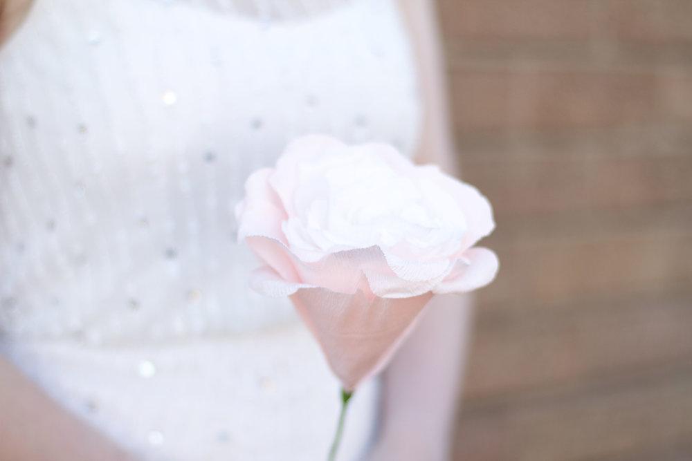 Large Single Rose Bridal Flower