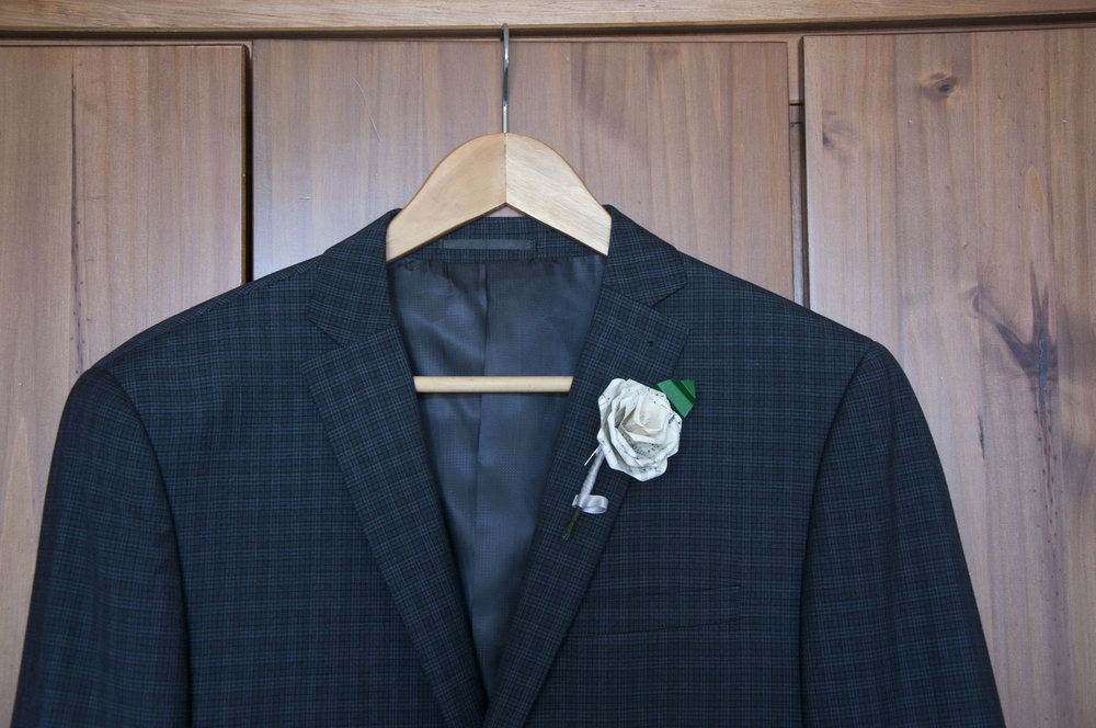 Single Rose Boutonnieres