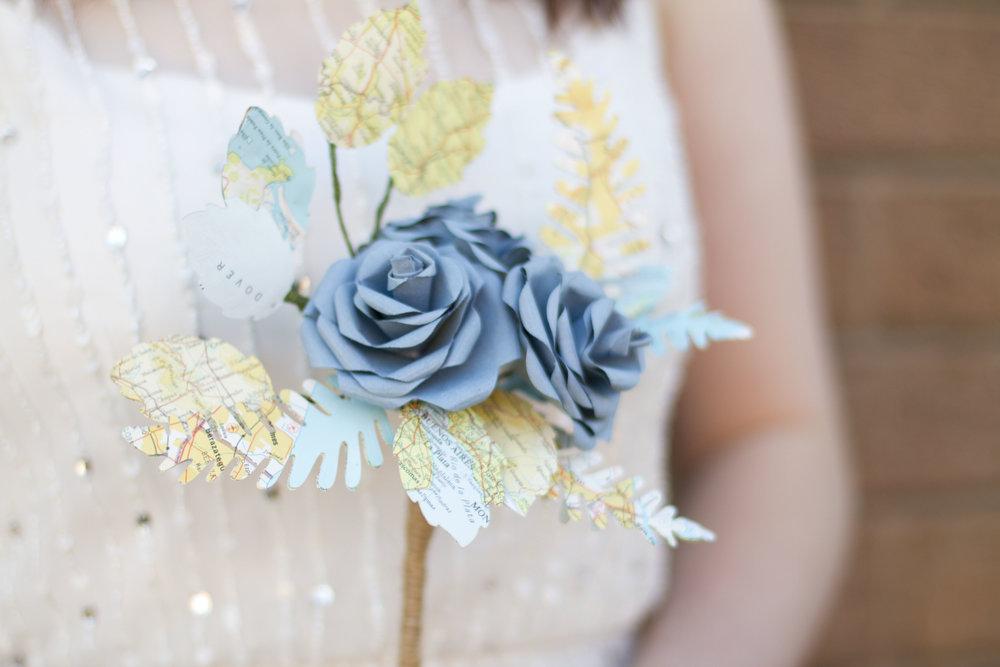 Rose & Fern Bridal Bouquet