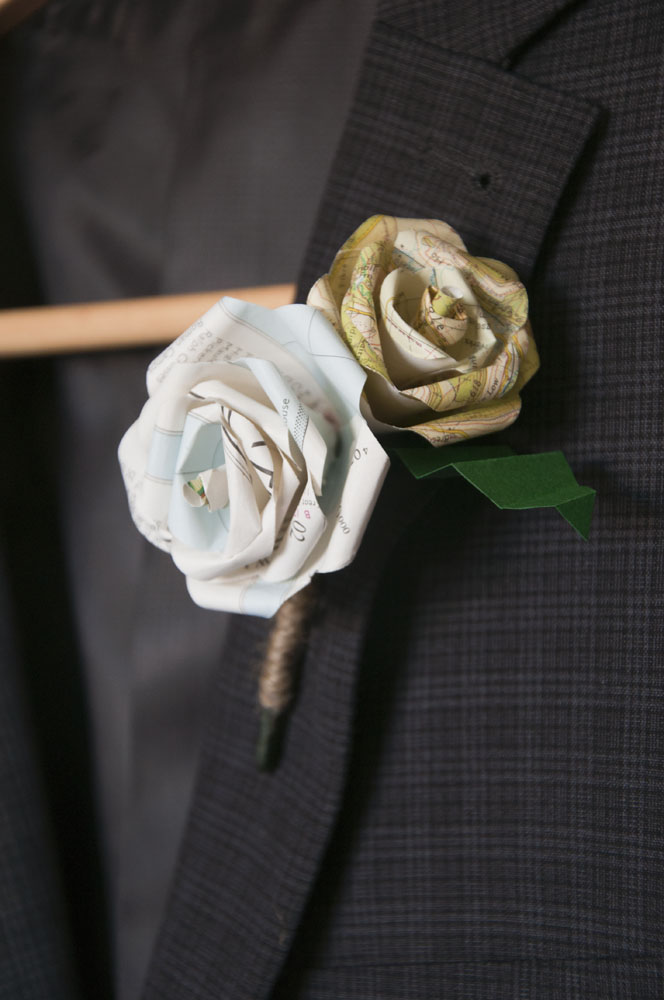Double Rose Boutonniere