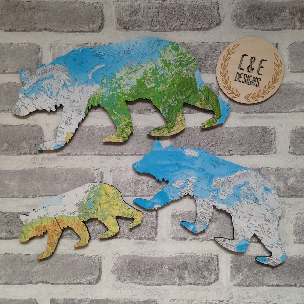 Map Bear Decor