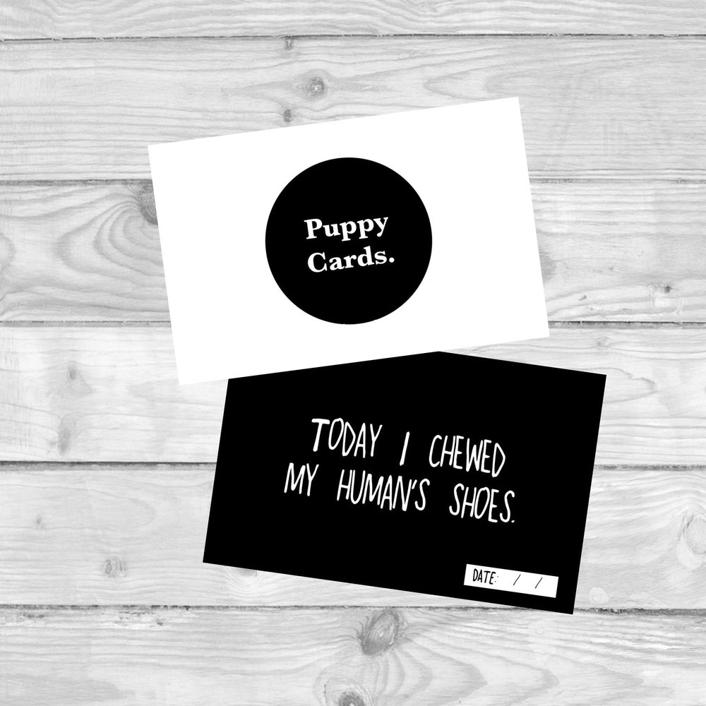 Puppy Milestone Cards  MILESTONE CARDS TO MARK ALL YOUR PUPPIES FIRSTS.  £4.80   SHOP NOW