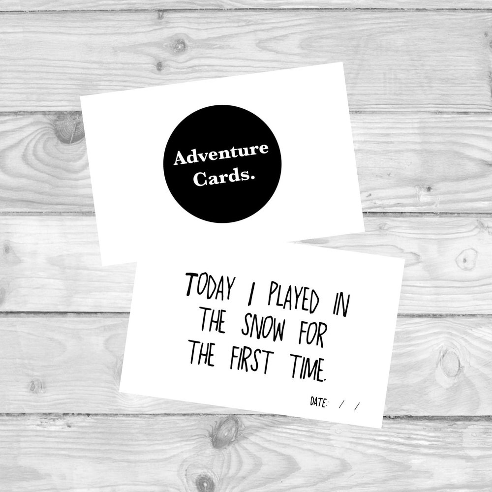 ADVENTURE MILESTONE CARDS  MILESTONE CARDS TO MARK ALL YOUR CHILD'S FIRST ADVENTURES.  £4.80   SHOP NOW