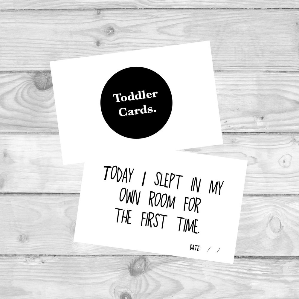 TODDLER MILESTONE CARDS  MILESTONE CARDS TO MARK ALL YOUR TODDLER'S FIRSTS AND LASTS.  £4.80   SHOP NOW