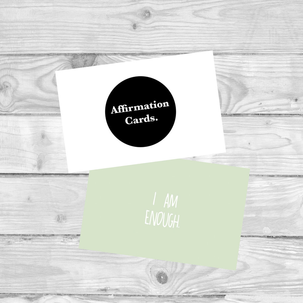 AFFIRMATION CARDS  cards to promote pOSITIVE wellbeing.  £4.80   SHOP NOW