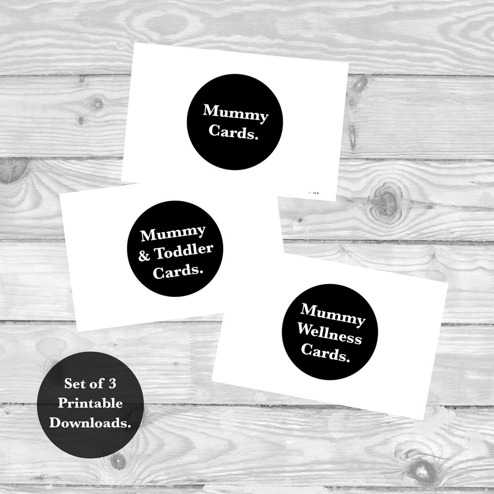 SET OF MUMMY, MUMMY & TODDLER AND MUMMY WELLNESS MILESTONE CARDS  £12   SHIOP NOW