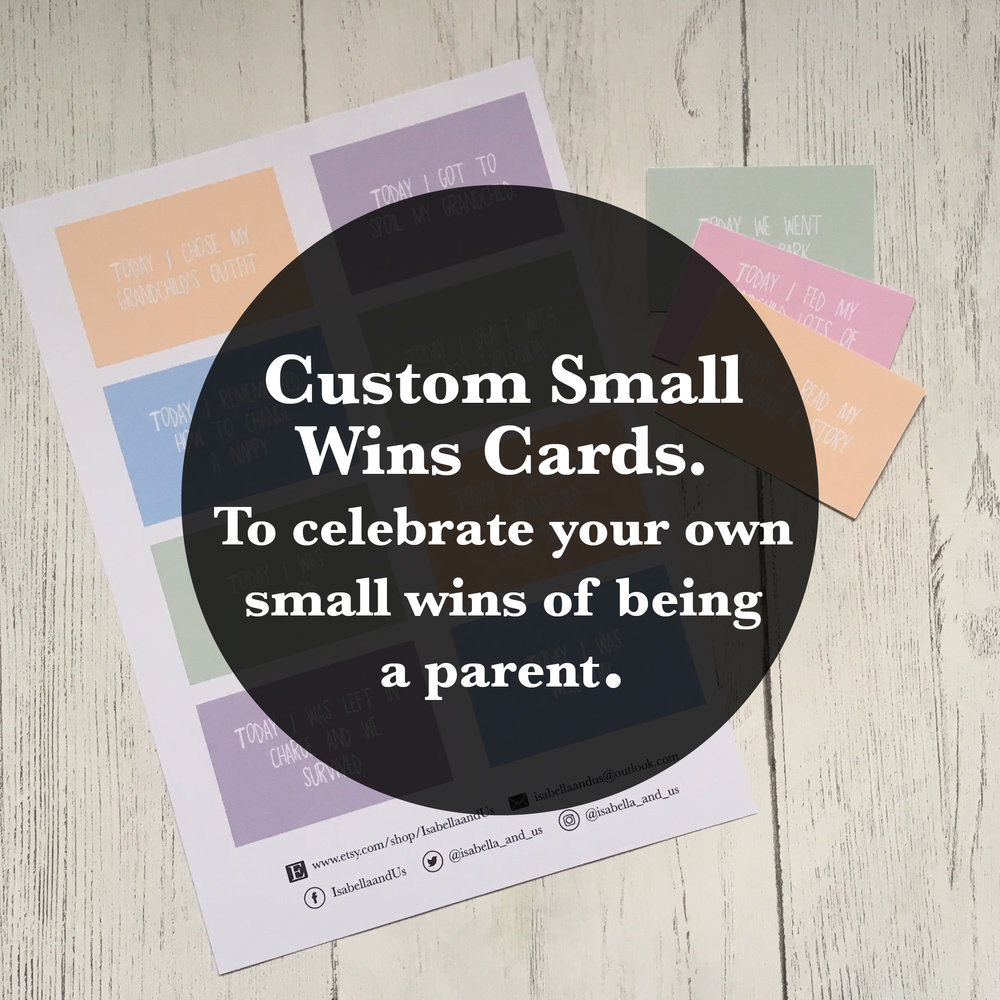 SET OF EIGHT CUSTOM SMALL WINS CARDS MADE WITH YOUR OWN SMALL WINS  £4.80   SHOP NOW