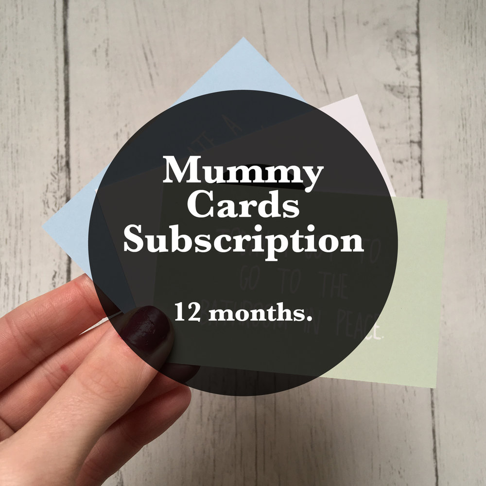 12 month Subscription  £42.00 (including  free delivery)  Saving £6.00  5 Mummy Small Win Cards & Surprise Gift Delivered to your door for 12 months.   SUBSCRIBE NOW