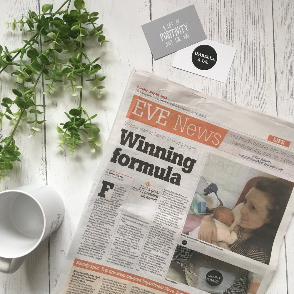Featured in The Gazette - #iamwinningasamummybecause campaign - Tuesday 29th May 2018